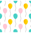 Cute balloons seamless pattern background vector image