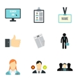 Team icons set flat style vector image
