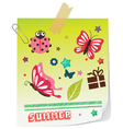 Butterfly paper vector image vector image