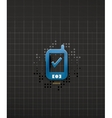 Mobile phone black technology design vector image