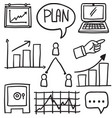 doodle of business object various vector image