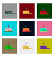 flat assembly icons of open gift box black friday vector image