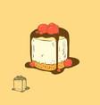cherry cheese cake vector image