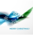 Blue Christmas blurred waves and snowflakes vector image