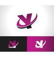 Swoosh Alphabet Icon Y vector image