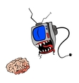 TV eat your brain vector image