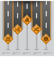 Road And Street Traffic Sign Business Infographic vector image