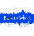 Back to School Banner With Bright Ink Blue vector image