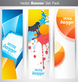 abstract vertical headers vector image