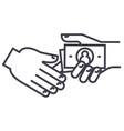bribegratuitypension line icon sign vector image