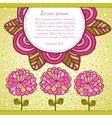 Flower background Floral card vector image