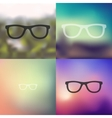 glasses icon on blurred background vector image