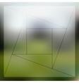 Mosaic pattern minimalistic geometric transparent vector image