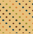 polka dots seamless pattern colorfu vector image