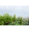 Raindrops On Window Glass vector image