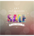 Retro Sale Poster With Banner Ribbon vector image