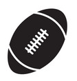 Rugby ball icon on white background rugby ball vector image