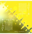 Yellow silhouettes of wine attributes on an vector image