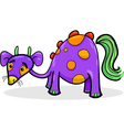 cartoon funny fantasy creature vector image vector image