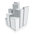 3d city concept vector image vector image