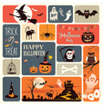 halloween elements vector image