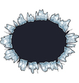 isolated hole vector image vector image