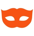 Privacy Mask flat orange color icon vector image