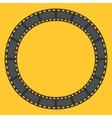Film strip round circle frame Template Design vector image