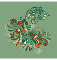 stylized fish with detailed tail vector image