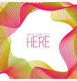 abstract line template summer pink background vector image