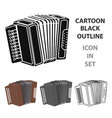 accordion icon in cartoon style isolated on white vector image
