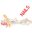 artificial nails for perfect nails every day text vector image
