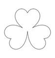 clover the black color icon vector image