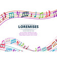 colorful musical notes and sound waves vector image