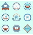 Dental emblems set vector image