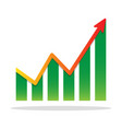 financial growth infographic chart icon vector image