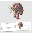 icon design logo element with business card vector image