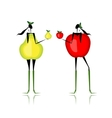 Pear and apple type of female figure vector image
