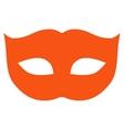Privacy Mask flat orange color icon vector image
