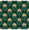 Seamless irish gold pattern with clover and heart vector image