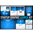 Startup Graphic Lauch Kit with Landing Webpages vector image