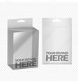 Digital silver transparent plastic blank vector image