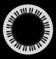 piano keys abstract  for creative design on black vector image