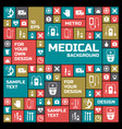 medical colored symbols background vector image