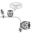 OWL DIET GOING vector image