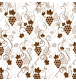 Seamless background pattern of grapes vector image