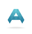 A letter logo template Triangle polygons style vector image