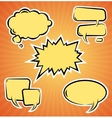 set of comic bubbles Template vector image