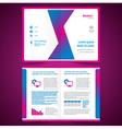 booklet catalog brochure folder origami geometric vector image vector image