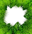 Summer Fresh Background with Green Tropical Leaves vector image vector image